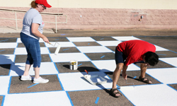 Volunteers painting at Coronado
