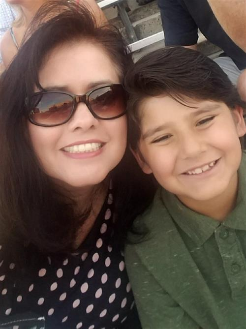 Mrs. Salas and her son Luke