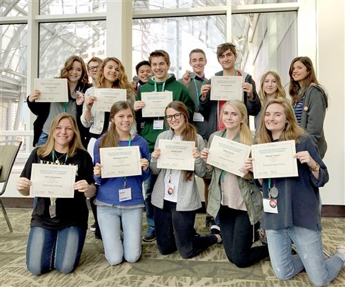 STUDENTS WIN 12 AWARDS AT JEA IN SEATTLE