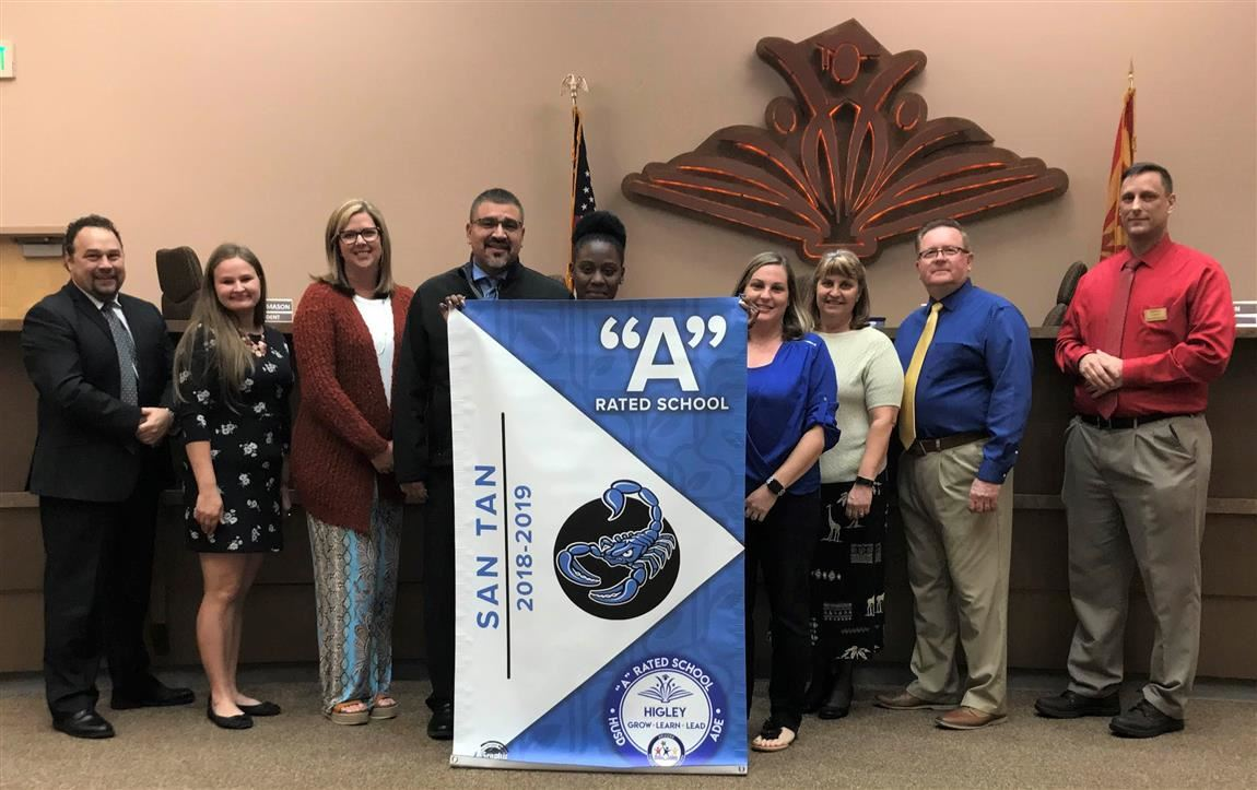 "San Tan receives ""A"" rating banner"