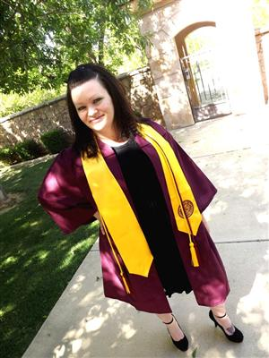 Ms. Fuller's Graduation Picture from ASU