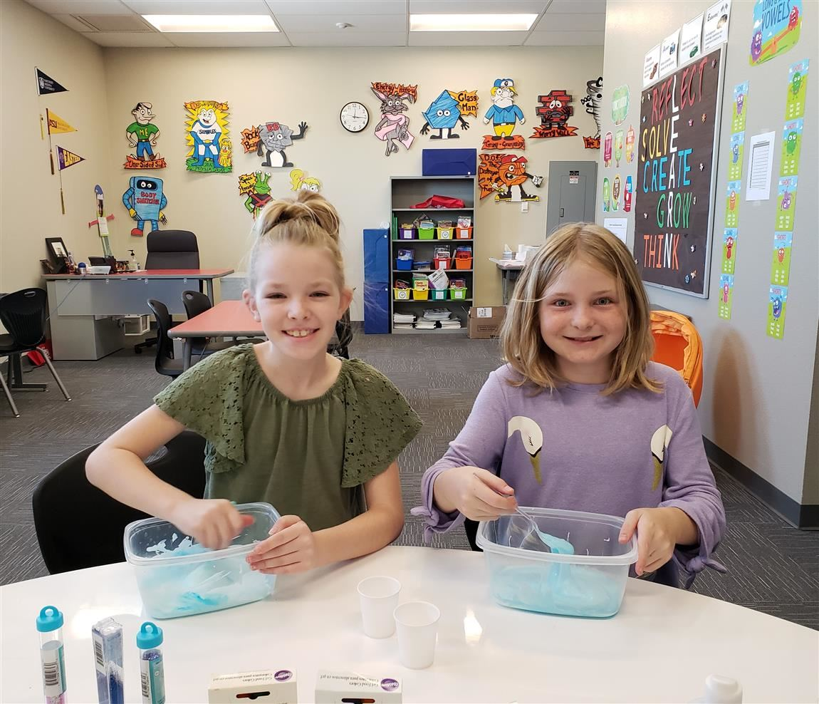Students Creating Slime