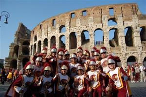 USC trumpets at the Colosseum