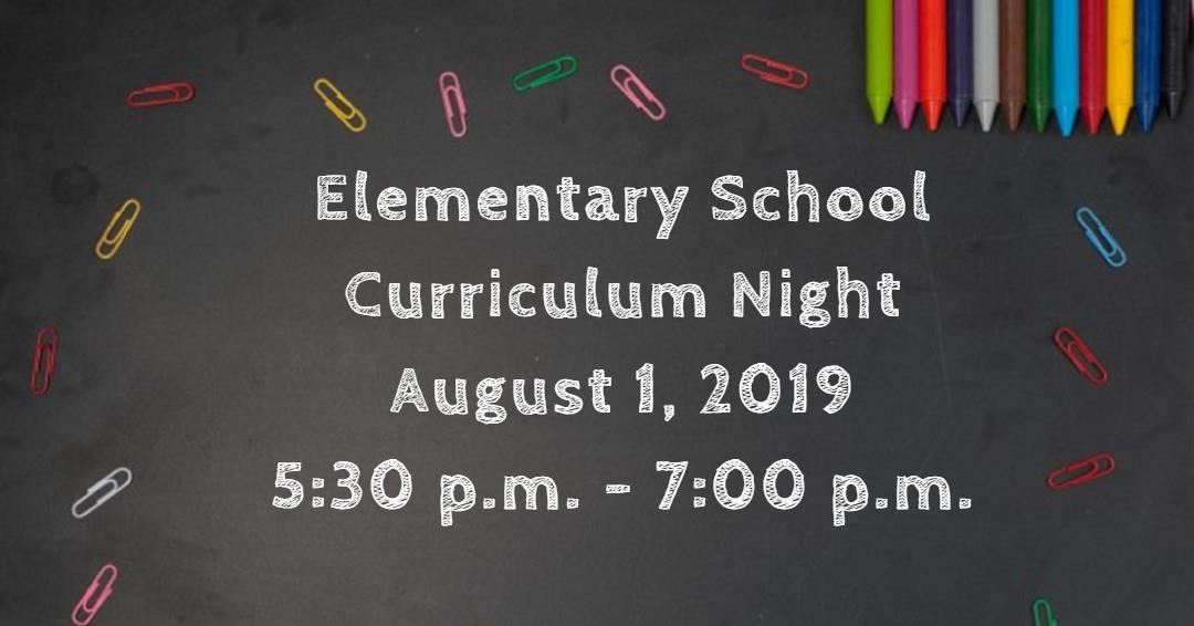 Elementary School Curriculum Night