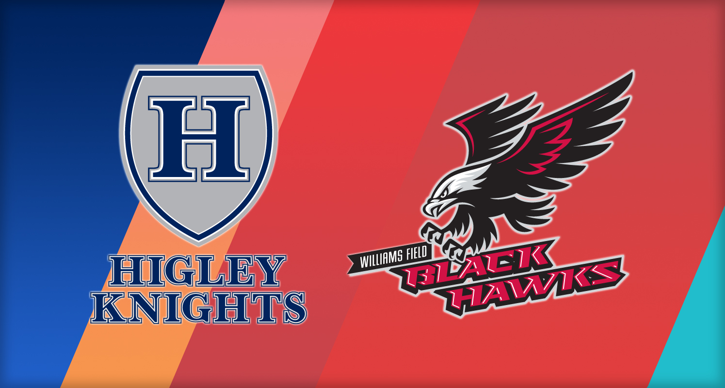 Graphic with Higley and Williams Field High School