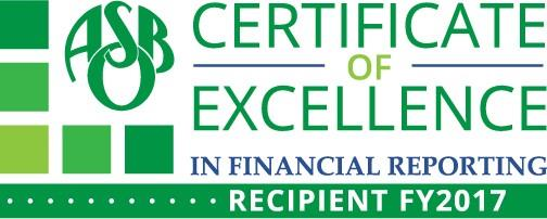 International's Certificate of Excellence in Financial Reporting Logo